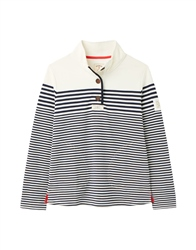 Joules Saunton Sweatshirt - Navy Cream Stripe