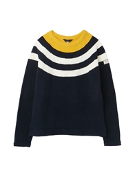 Joules Seaport Jumper - Navy Block Stripe