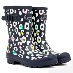 Joules Molly Wellington Boots - Navy Leopard
