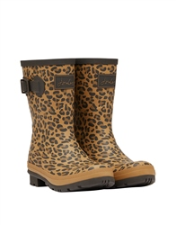 Joules Molly Wellington Boots - Tan Leopard