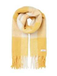 Joules Lin Scarf - Yellow & White Check