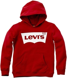 Levi's Batwing Screen Print Hoody - Red & White