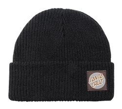 Santa Cruz Missing Dot Beanie - Black