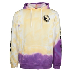 Santa Cruz Scream Ying Yang Hoody - Yellow & Purple Fold Dye