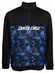 Santa Cruz Astro Zipped Sweatshirt - Black & Splatter