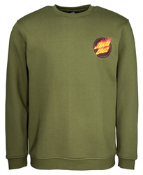 Santa Cruz Flaming Japan Dot Sweatshirt - Green