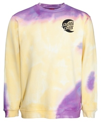 Santa Cruz Moon Dot Sweatshirt - Yellow & Purple