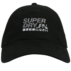 Superdry Montauk Orange Label Cap - Black