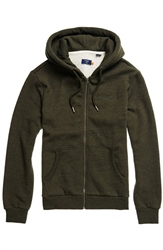 Superdry Classic Zipped Hoody - Winter Khaki Grit