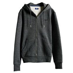 Superdry Orange Label Classic Zipped Hoody - Black Snow Heather