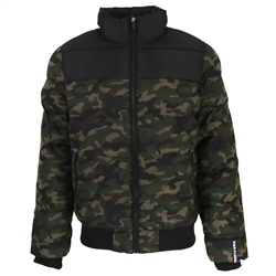 Superdry Track Puffer Jacket - Camo & Black