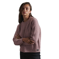 Superdry Freya Tweed Jumper - Candy Pink Tweed