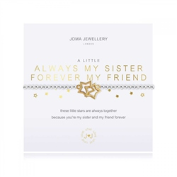 Joma Jewellery A Little Always My Sister Bracelet - Silver & Gold