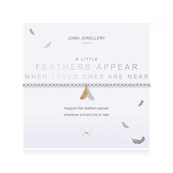 Joma Jewellery A Little Feathers Appear When Loved Ones Are Near Bracelet - Silver & Gold
