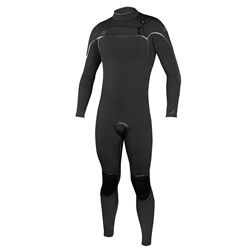 O'Neill Psycho 1 4/3mm Chest Zip Wetsuit - Black & Acid (2020)
