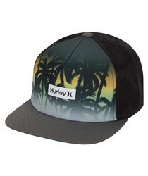 Hurley Printed Square Trucker - Anthracite