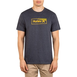 Hurley One & Only Box Gradient T-Shirt - Black Heather