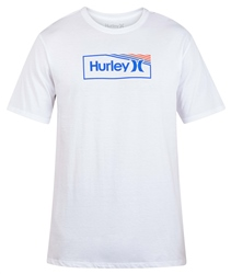 Hurley One & Only Box Gradient T-Shirt - White