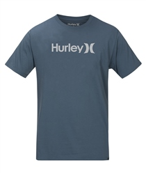 Hurley One & Only Solid T-Shirt - Thunderstorm & Cool Grey