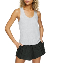 Hurley Sandy Rib Tank Top - Grey Heather