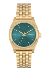 Nixon Medium Time Teller Watch - Light Gold & Turquoise