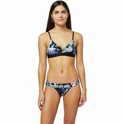 Stance Wide Side Nylon Thong - Melrose Floral Black