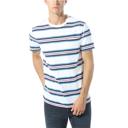 Vans Emory T-Shirt - White & Blue Jewel