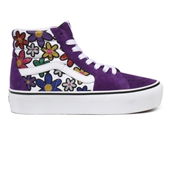 Vans Glitter Daisies SK8 Hi Platform 2.0 Shoes - Rainbow & True White