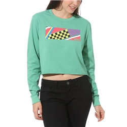Vans Ramp Tested Cropped  T-Shirt - Green Spruce