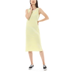 Vans Mini Check Midi Dress - Lemon Tonic