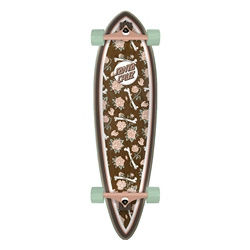 "Santa Cruz Floral Decay Pintail 33"" Skateboard - Brown"