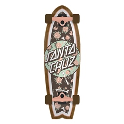 "Santa Cruz Floral Decay Shark 27.7"" Skateboard - Multi"