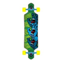 "Santa Cruz Screaming Hand Stack Drop Thru 36"" Skateboard - Multi"