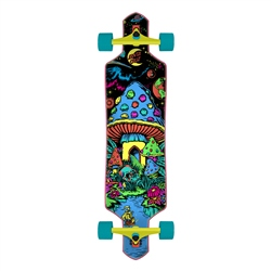 "Santa Cruz Time Warp Drop Thru 36"" Skateboard - Multi"