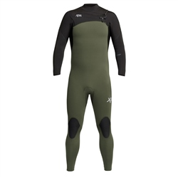 Xcel Comp 4/3mm Chest Zip Wetsuit (2020) - Dark Forest & Black