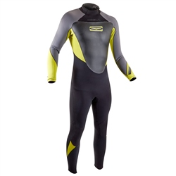 Gul Response 3/2mm Back Zip Wetsuit - Black & Lime