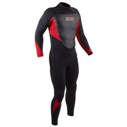 Gul Response 5/3mm Back Zip Wetsuit - Black & Red