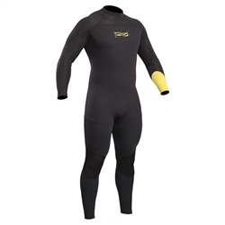 Gul Response FX 5/4mm Back Zip Wetsuit - Black & Lime