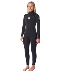 Rip Curl Dawn Patrol Performance 4/3mm Chest Zip wetsuit (2020) - Black
