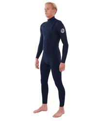 Rip Curl Dawn Patrol Performance 4/3mm Chest Zip Wetsuit (2020) - Navy