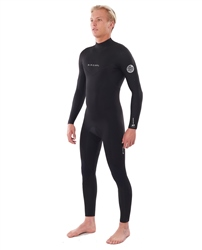 Rip Curl Mens Dawn Patrol 4/3mm Back Zip Wetsuit (2020) - Black