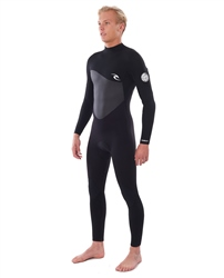 Rip Curl Mens Omega 4/3mm Back Zip Wetsuit (2020) - Black