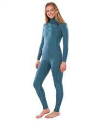 Rip Curl Dawn Patrol Performance 5/3mm Chest Zip Wetsuit (2020) - Green