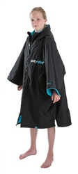 Dryrobe Small Kids Advance Short Sleeved Dryrobe - Black & Blue