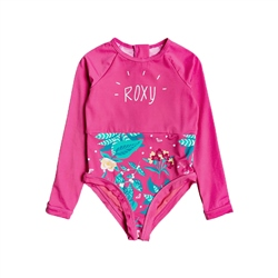 Roxy Magical Sea Long Sleeved  Swimsuit - Pink