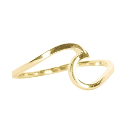 Pura Vida Wave Ring - Gold