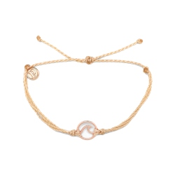 Pura Vida Wave Rose Gold Bracelet - Cream