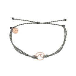 Pura Vida Wave Rose Gold Bracelet - Grey