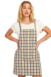 RVCA Allen Plaid Dress - Oatmeal
