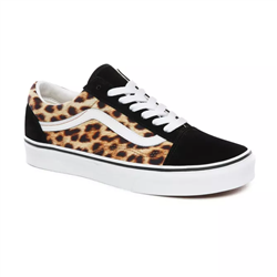 Vans Leopard Old Skool Shoes - Leopard, Black & True White